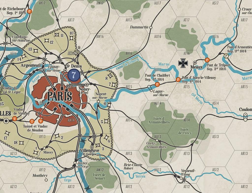 Nach Paris Boardgame Map
