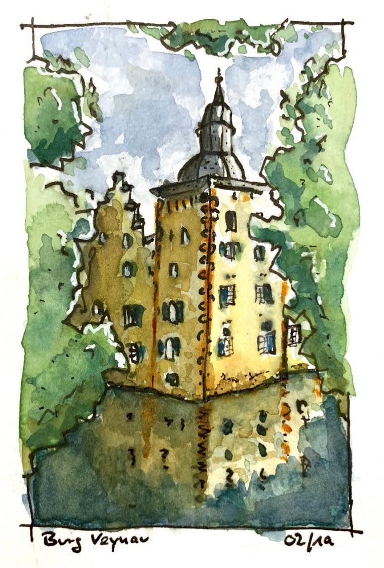 Burg Veynau Skizze