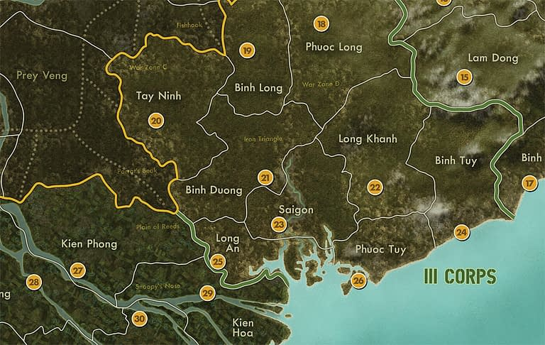 The War in Vietnam map