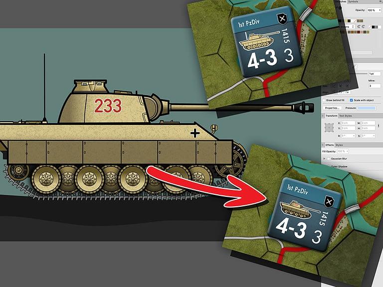 Panther Tank Illustration